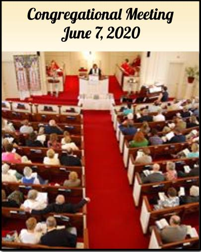 Congregational Meeting June 7