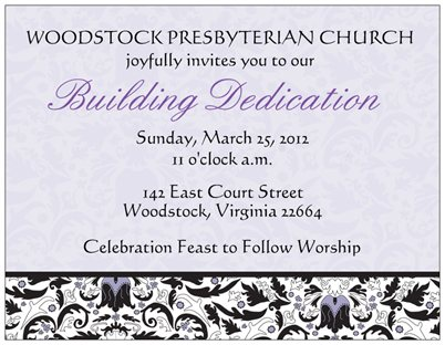 Fellowship Hall Building Project - Woodstock Presbyterian ...